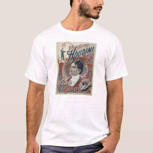 Houdini, rey del anuncio del vintage de la tarjeta playera