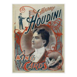 Houdini, rey del anuncio del vintage de la tarjeta tarjetas postales