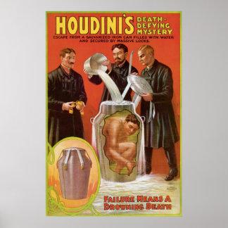 Houdini s Illusionist Vintage Escape Artist Poster