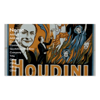 Houdini, 'Says no and proves it' Retro Theater Double-Sided Standard Business Cards (Pack Of 100)