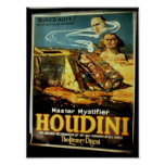 "Houdini, teatro del vintage ""del resumen literario poster"