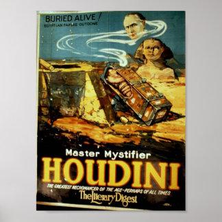 "Houdini, teatro del vintage ""del resumen literario posters"