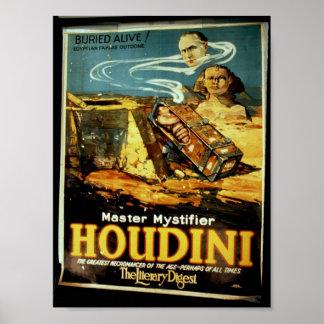 "Houdini, teatro del vintage ""del resumen literario póster"