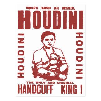 Houdini the handcuff king postcard