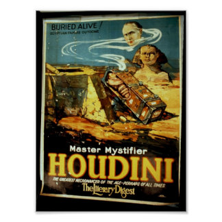 Houdini the Literary Digest Vintage Theater Posters