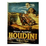 Houdini, 'the Literary Digest' Vintage Theater Print
