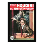Houdini, The Mastery Mystery vintage poster 1919 5x7 Paper Invitation Card