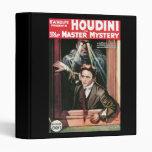 Houdini, The Mastery Mystery vintage poster 1919 Vinyl Binder