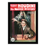 Houdini, The Mastery Mystery vintage poster 1919 Custom Announcements