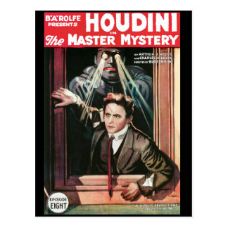 Houdini, The Mastery Mystery vintage poster 1919 Postcard