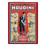 Houdini ~ Vintage Handcuff Escape Artist Greeting Cards