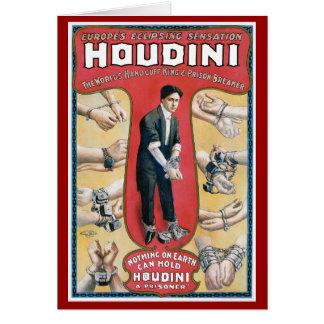 Houdini ~ Vintage Handcuff Escape Artist Card