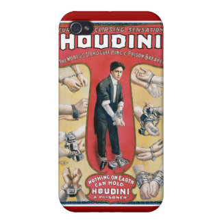 Houdini ~ Vintage Handcuff Escape Artist Cover For iPhone 4