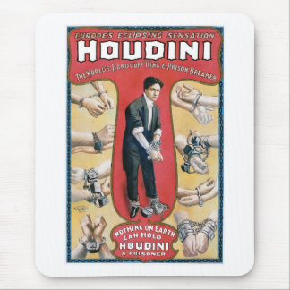 Houdini ~ Vintage Handcuff Escape Artist Mouse Pad