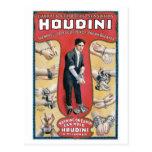 Houdini ~ Vintage Handcuff Escape Artist Post Card