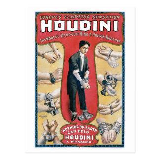 Houdini ~ Vintage Handcuff Escape Artist Postcard