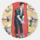 Houdini ~ Vintage Handcuff Escape Artist Stickers