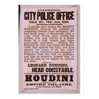 Houdini Vintage Theater Postcard