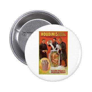 Houdini's ~ Illusionist Vintage Escape Artist Button