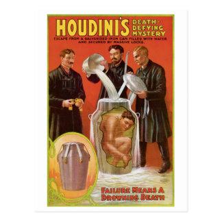 Houdini's ~ Illusionist Vintage Escape Artist Postcards