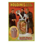 Houdini's ~ Illusionist Vintage Escape Artist Poster