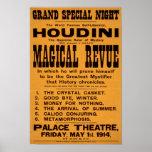 Houdini's Magical Revue, 1914 Print