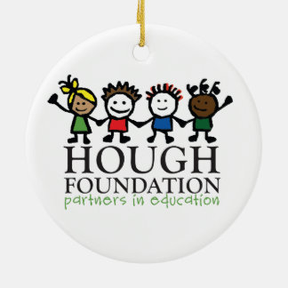 Hough Foundation and Sip and Stroll Gear! Double-Sided Ceramic Round Christmas Ornament