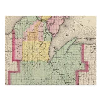 Houghton County Michigan Postcard