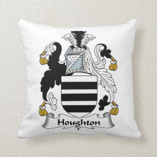 Houghton Family Crest Throw Pillows