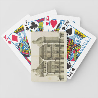 Houghton Hall: cross-section of the Hall and Salon Bicycle Playing Cards
