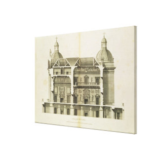 Houghton Hall: cross-section of the Hall and Salon Canvas Print