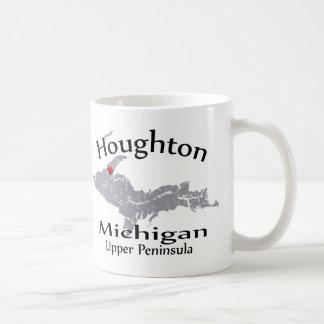 Houghton Michigan Heart Map Design Mug Coffee Mug