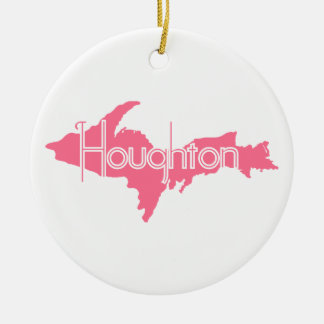 Houghton Michigan Upper Peninsula Ceramic Ornament