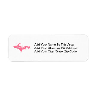 Houghton Michigan Upper Peninsula Return Address Label