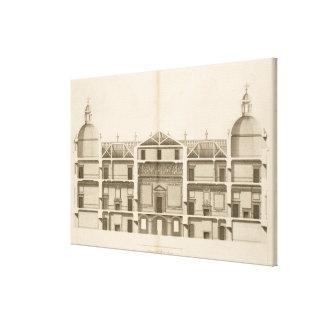 Houghton Pasillo: sección del frente del oeste, gr Lienzo Envuelto Para Galerías