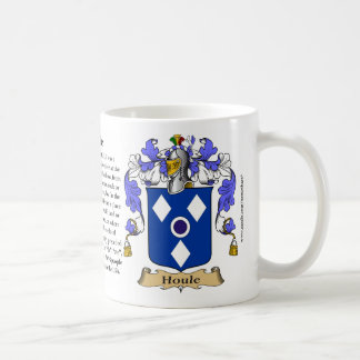 Houle, the Origin, the Meaning and the Crest Coffee Mug