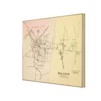 Houlton, mapa del condado de Aroostook Impresiones En Lona Estiradas