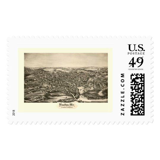 Houlton, ME Panoramic Map - 1894 Postage
