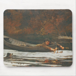 Hound and Hunter, 1892 (oil on canvas) Mouse Pad