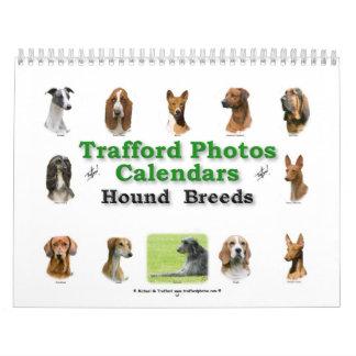 Hound Breeds Calendar