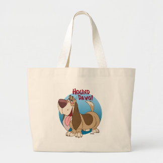 hound dawg large tote bag