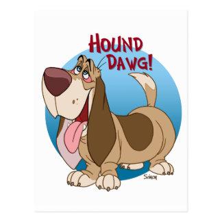 hound dawg postcard