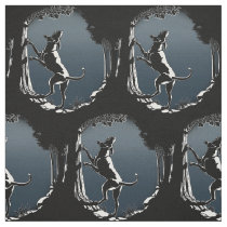 Hound Dog Art Fabric Fabric Hunting Dog Pattern