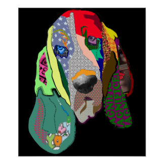 Hound Dog Art Poster $26.95