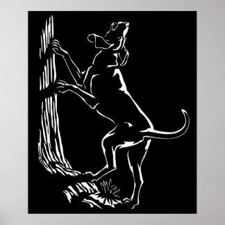 Hound Dog Art Poster Cool Hunting Dog Art Prints