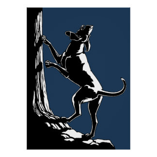 Hound Dog Art Poster Hunting Dog Art Prints Decor