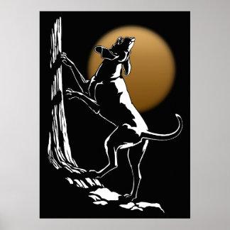 Hound Dog Art Poster Hunting Dog Art Prints Poster