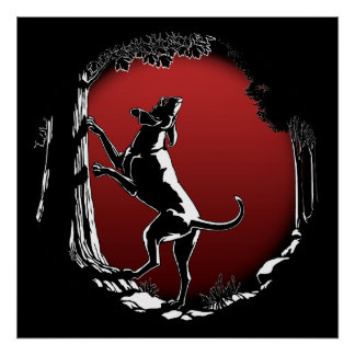 Hound Dog Art Poster Hunting Dog Lover Prints