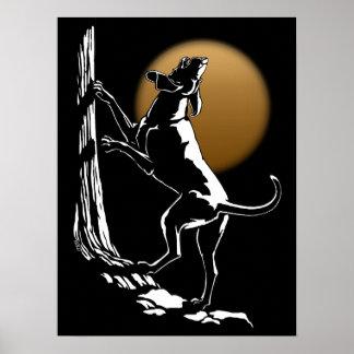 Hound Dog Art Poster Hunting Dog Print Poster Sm