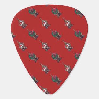 Hound Dog Christmas Guitar Pick